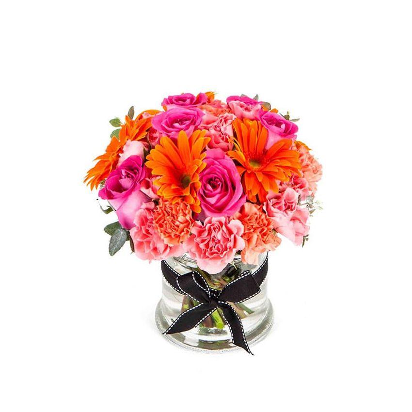 Flamingo in Glass Vase