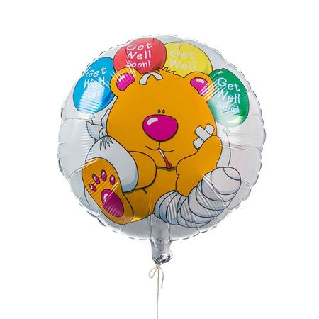 Single Get Well Foil Balloon