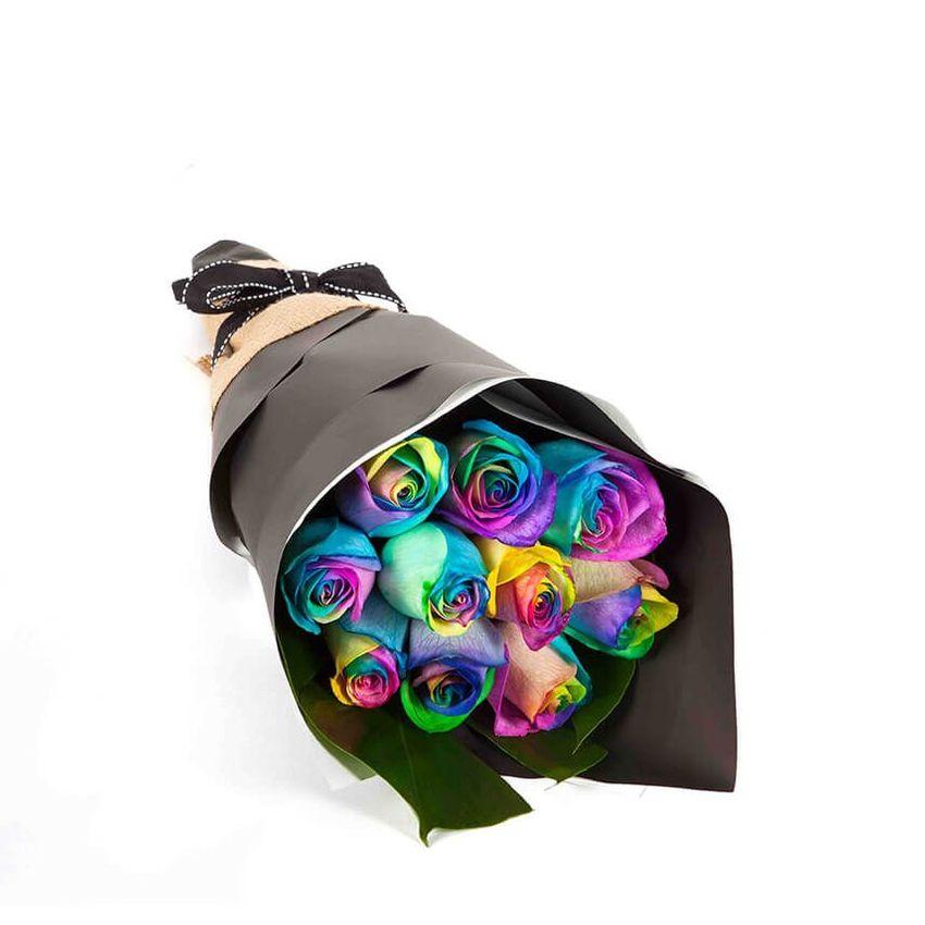 Rainbow Roses (10)
