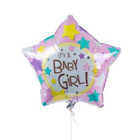 Single Baby Girl Foil Balloon