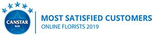 Canstar Blue Most Satisfied Customers Award, Online Florists, 2019